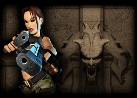 I wouldn't dare mess with AoD Lara... (Image credit: Lara Croft Online)