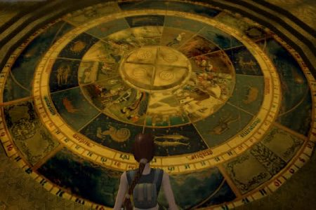 In the Hall of Seasons, Lara is faced with a beautiful but puzzling zodiac mosaic (Image credit: Unknown)