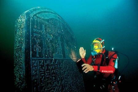 One of the many ancient objects recovered from the Heracleion site (Image credit: Christoph Gerigk)