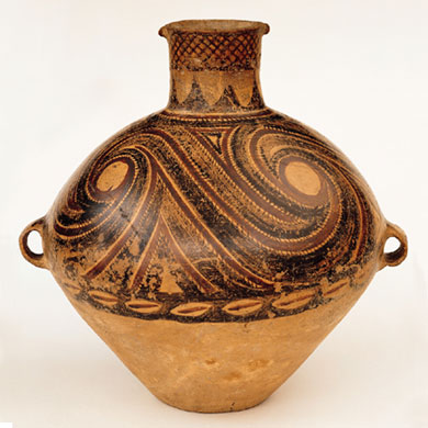 A Banshan type jar, part of the Asia Society's collection of Neolithic earthenware (Image credit: Asia Society)