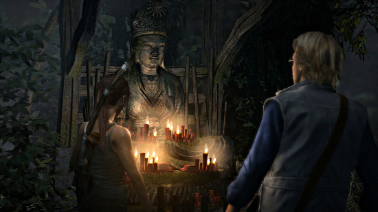 Lara and Dr Whitman search for the tomb of the Sun Queen, Himiko (Image credit: The Average Gamer)