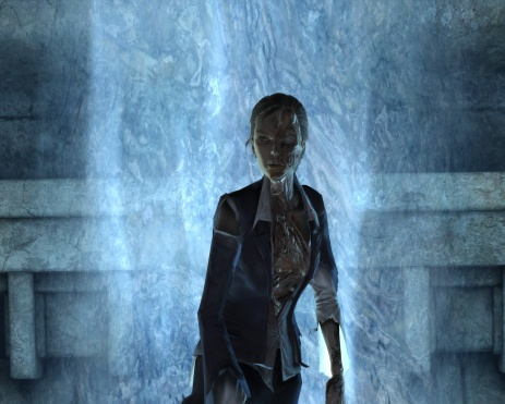 Amelia Croft as a Hel-inspired thrall. (Image credit: Katie's Tomb Raider Site)