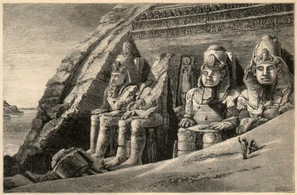 A hand-drawn illustration of Abu Simbel by Amelia B. Edwards (Image credit: Wikimedia Commons)
