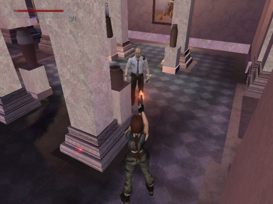 No, Lara! He's just doing his job! (Image credit: Katie's Tomb Raider Site)