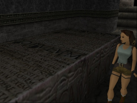 Lara Croft as she appears in the original 1996 game (Image credit: Katie's Tomb Raider Screenshots)