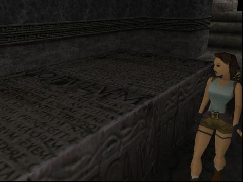 Lara Croft as she appears in the original 1996 game (Image credit: Katie's Tomb Raider Screenshots)
