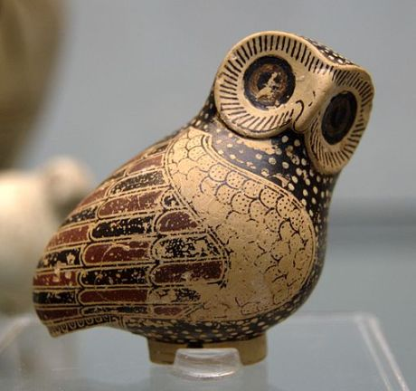 An owl-shaped Proto-Corinthian aryballos (Image credit: Wikimedia Commons)