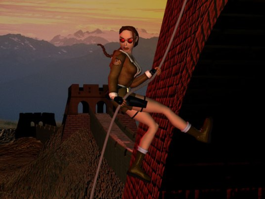 Lara Croft at the Great Wall