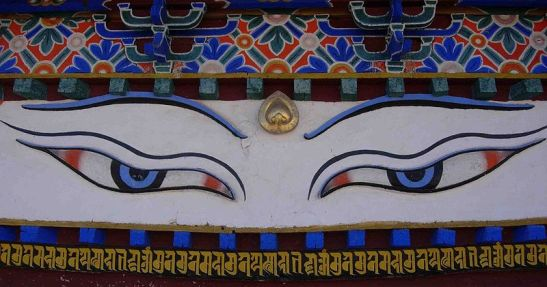 Buddha eyes of Kumbum