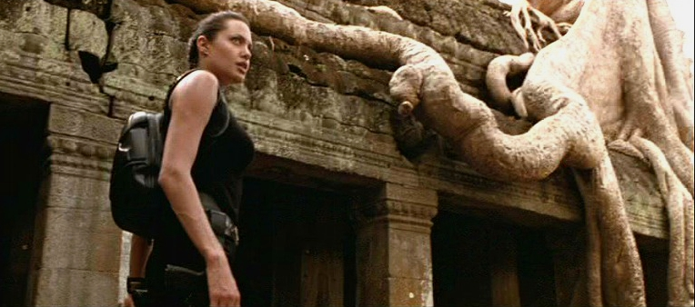 Angelina Jolie as Lara Croft at Ta Prohm temple (Image credit: Cambodge-Voyages)