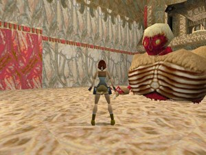 The torso boss from Tomb Raider 1