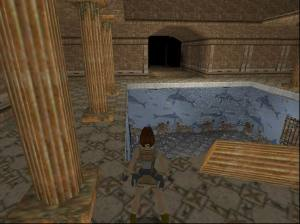 The dolphin pool seen in Tomb Raider