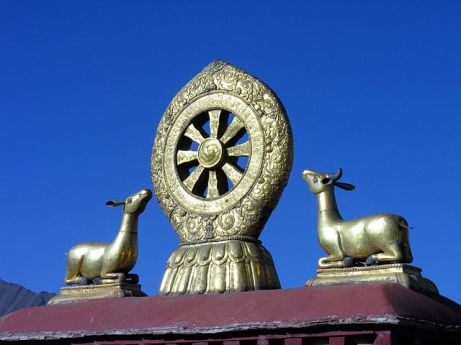 Roof of Jokhang Temple in Lhasa