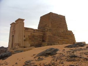 The pyramid of Queen Amanitore in Sudan