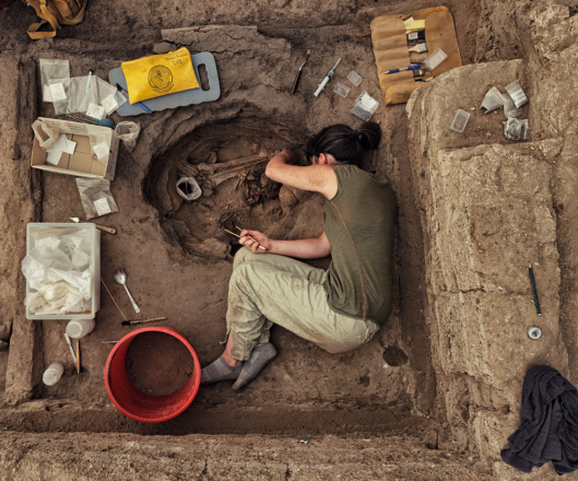 Excavation conducted at Çatalhöyük