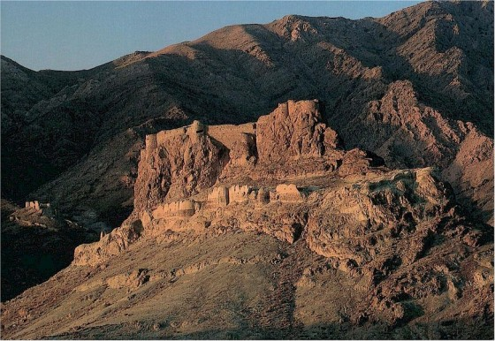The ruins of Alamut Castle in Iran