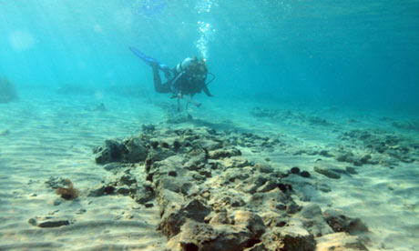 The sunken ruins of Pavlopetri (Image credit: Handout via The Guardian)
