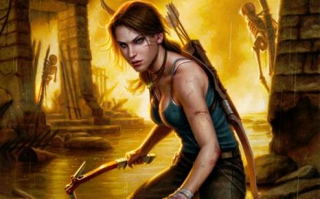 Tomb Raider cover art by Dan Dos Santos