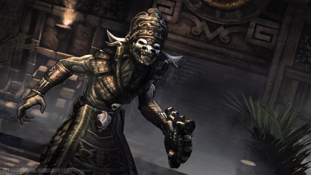 The Aztec god Xolotl as he's depicted in Lara Croft & the Guardian ...