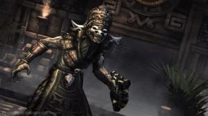 The Aztec god Xolotl as seen in Lara Croft & the Guardian of Light