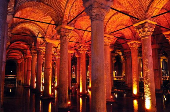 The Basilica Cistern in Istanbul