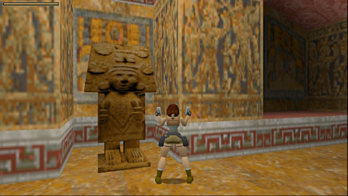 Statue of Aztec maize goddess seen in Tomb Raider 1