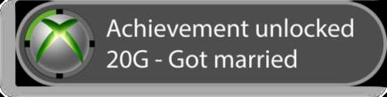 Achievement unlocked - Got married
