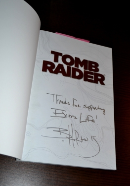 Signed copy of Tomb Raider Volume 2: Secrets and Lies