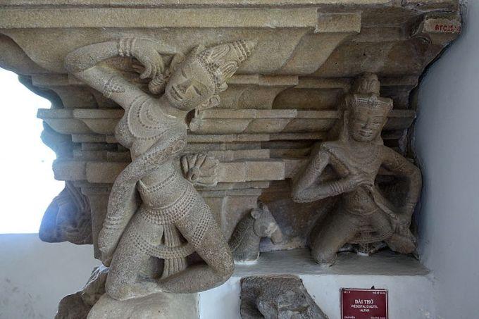 Dancers Pedestal found in Tra Kieu, Vietnam