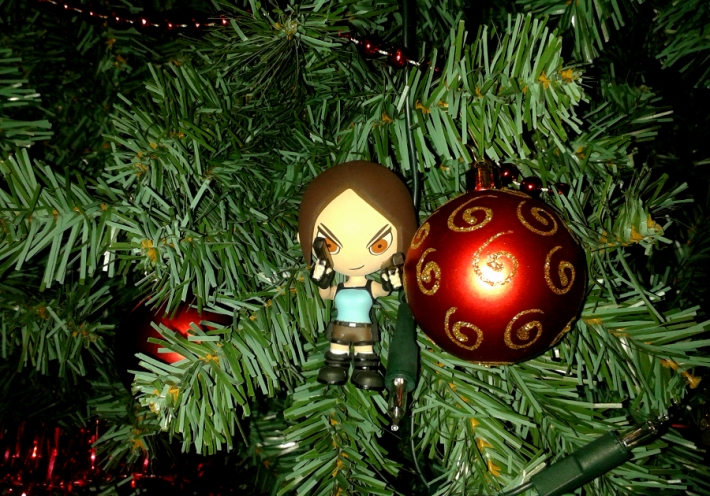 Lara Croft raids my Christmas tree
