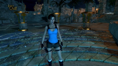 Lara Croft in her latest adventure, Temple of Osiris