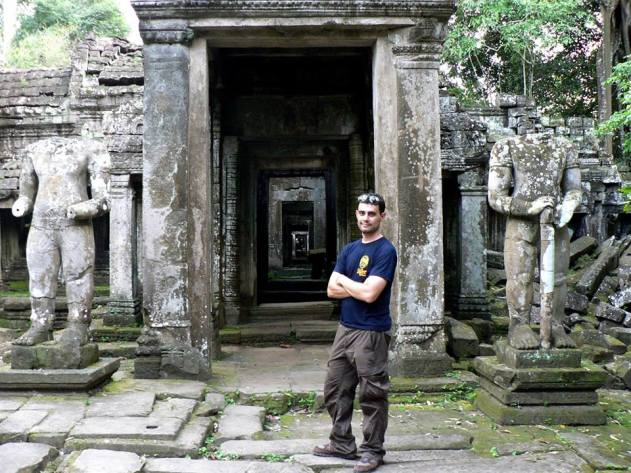 Author Jordan Jacobs in Cambodia, the setting for his upcoming third novel