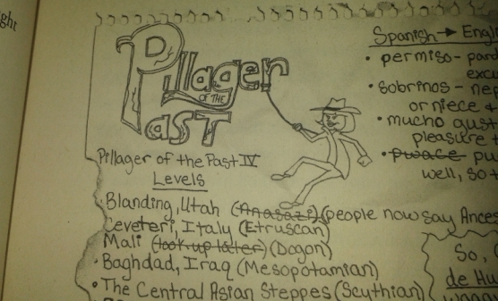 Samantha Sutton's sketch of Pillager of the Past's protagonist