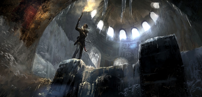 Concept art from The Rise of the Tomb Raider