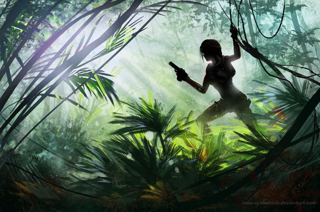 One of Inna's Tomb Raider sketches