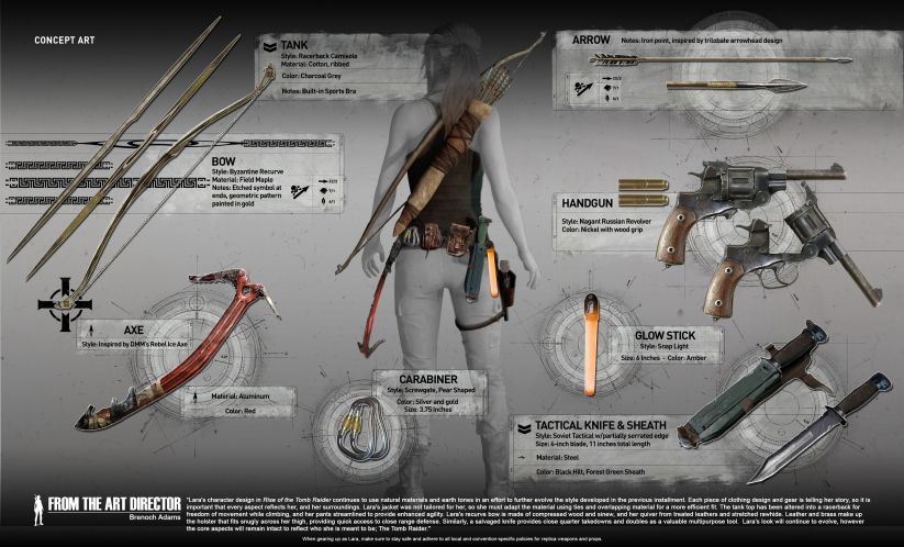 A look at the tank top Lara wears in Rise of the Tomb Raider
