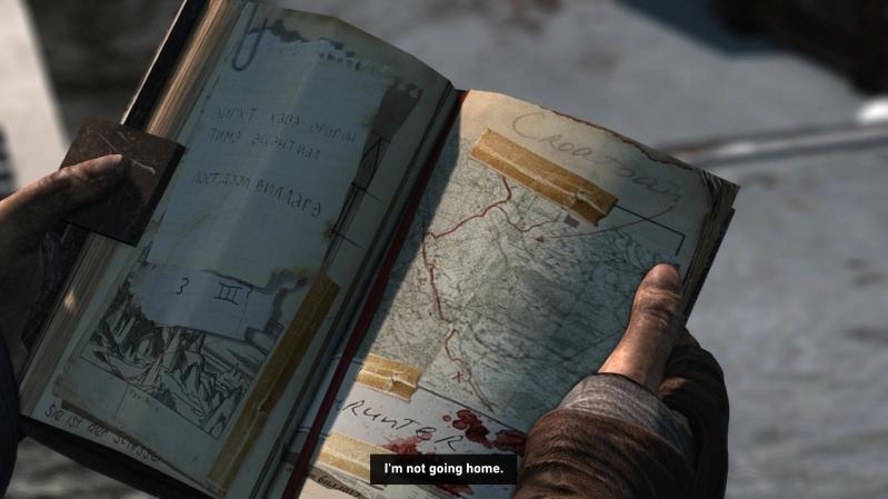 The logbook, as seen in Tomb Raider 2013's closing cutscene