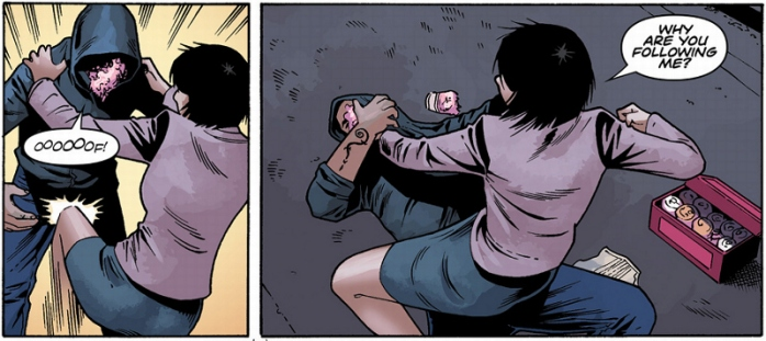 Sam kicking ass in Tomb Raider #13
