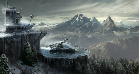 Concept art from Rise of the Tomb Raider (Image credit: Crystal Dynamics)