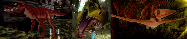 Dinosaurs in Tomb Raider
