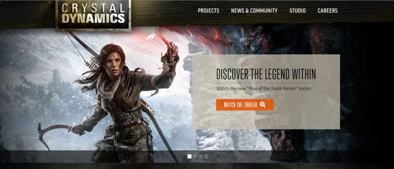 A new look for the Crystal Dynamics website ahead of E3 2015