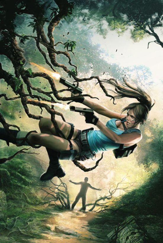 Lara Croft & the Frozen Omen #1, featuring cover art by Jean-Sébastien Rossbach
