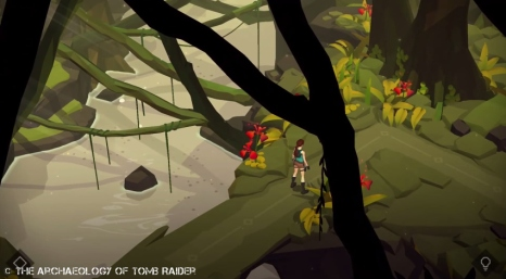 Screenshot of Lara Croft GO