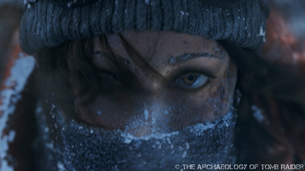 Lara looking frosty in the new Rise of the Tomb Raider teaser trailer