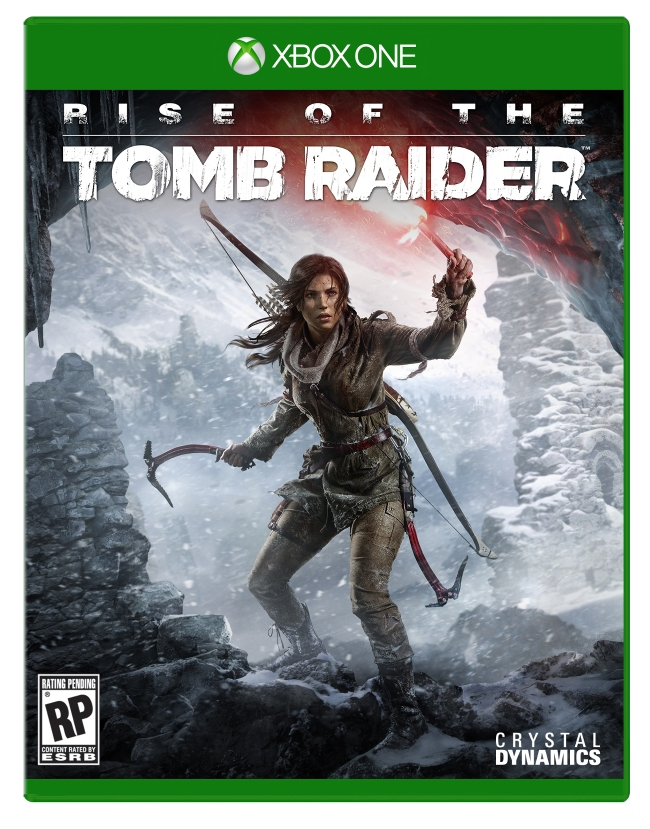 The official Xbox One boxart for Rise of the Tomb Raider