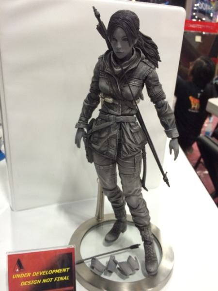 Prototype of the Play Arts KAI Rise of the Tomb Raider figure
