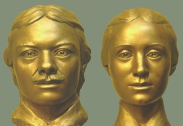 Forensic facial reconstructions of Vasili and Maria (Tatiana) Pronchishchev