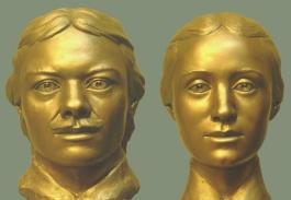 Forensic facial reconstructions of Vasili and Maria (Tatiana) Pronchishchev