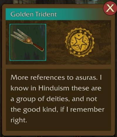 The Golden Trident seen in Lara Croft: Relic Run