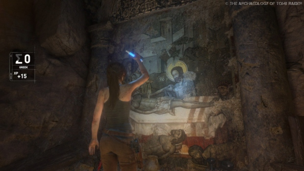 Screenshot from Rise of the Tomb Raider's Syria level